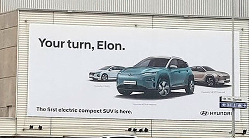 Hyundai Kona EV Your turn Elon