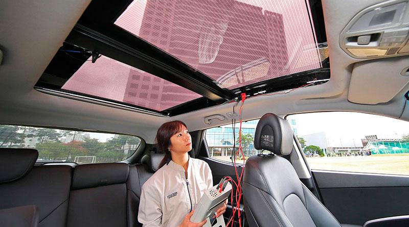 Hyundai будет устанавливать солнечные батареи в крыши своих авто
