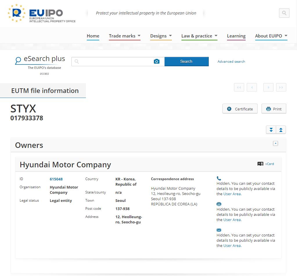 EU-IPO Hyundai STYX