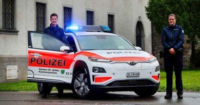 Полиция Швейцарии приобрела Hyundai Kona на электротяге