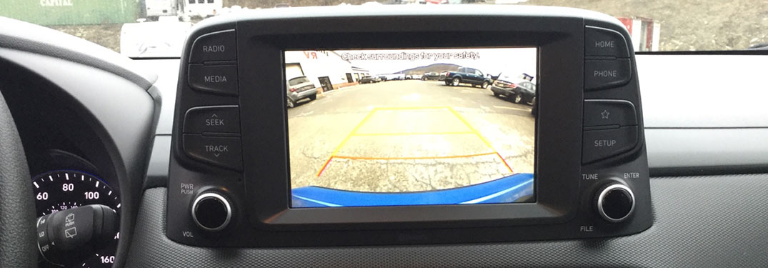 Hyundai Kona rear view camera